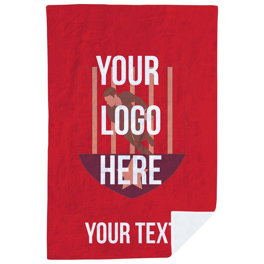 Rugby Premium Blanket - Custom Logo