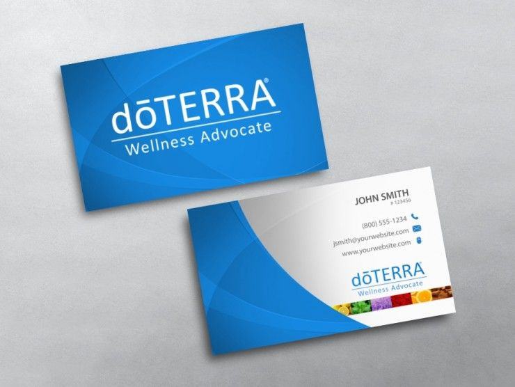 Doterra Business Card 02 Doterra Business Cards Template Doterra Business Cards Doterra Business