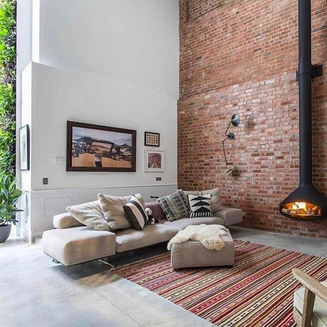 100 Scandinavian Living Room Home Decor Exposed Brick Walls