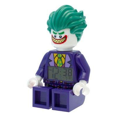 The Lego Batman Movie Joker Light-up Minifigure Alarm Clock - Purple