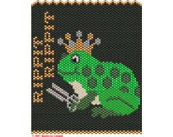 QUEEN OF THE FROG STITCH Necklace or Mini-Tapestry, Sova Enterprises
