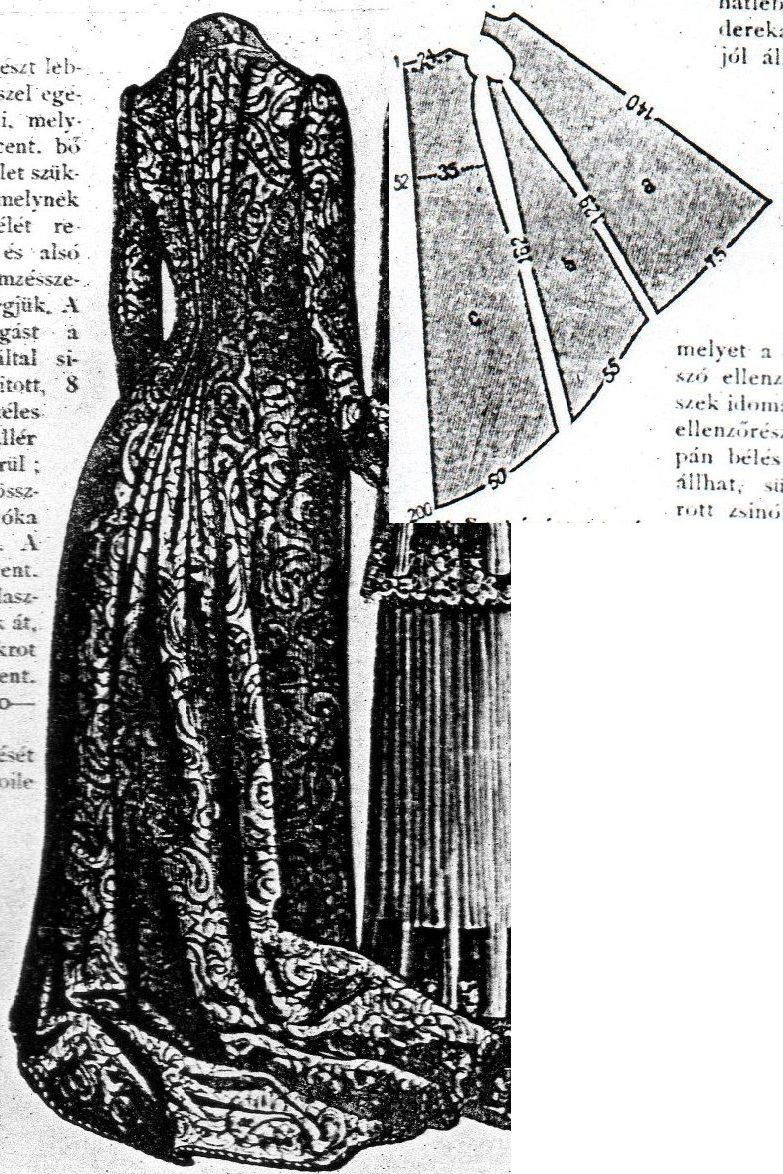 Budapesti Bazár 1884.: Elegant morning gown in princess line with ...