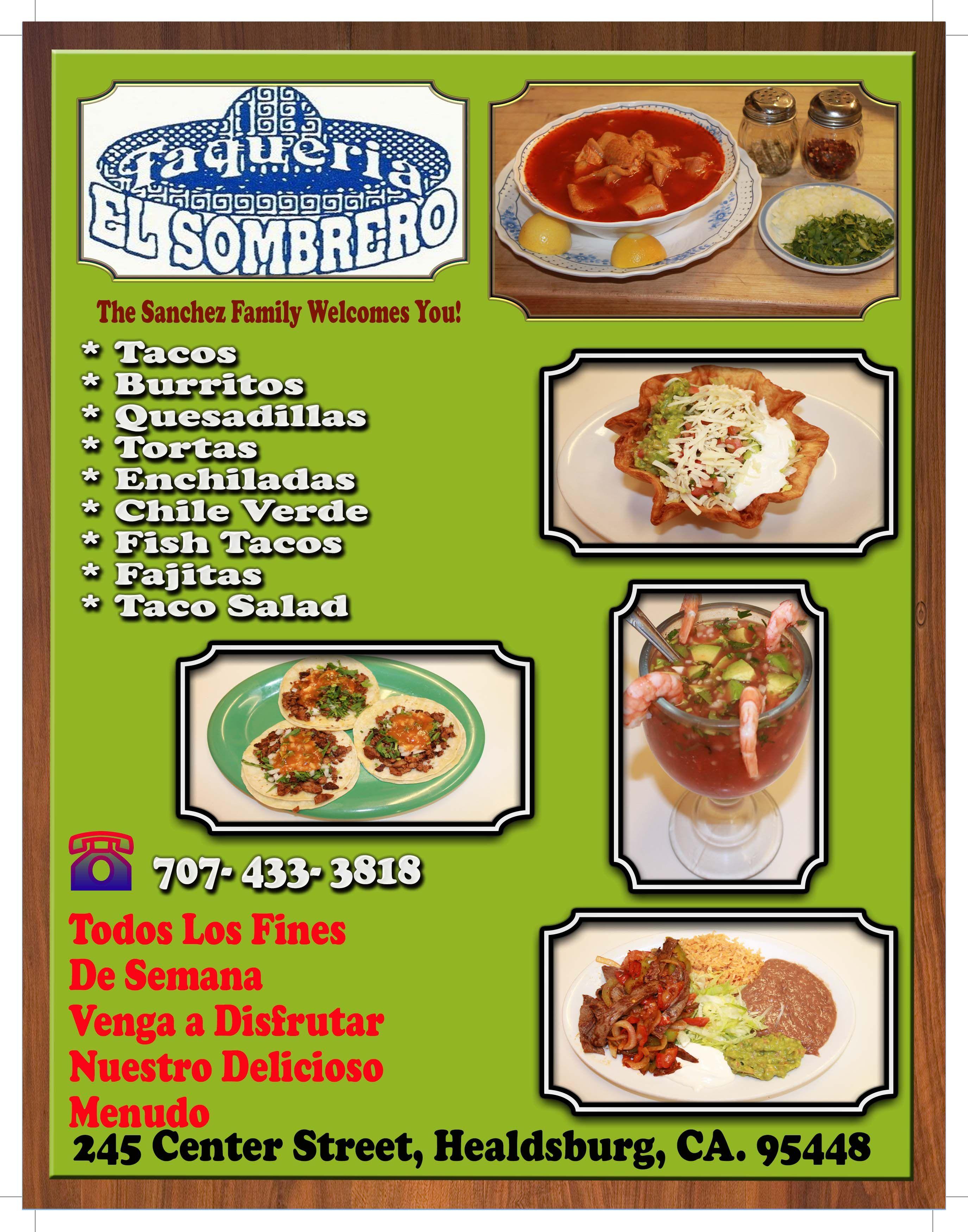 fb034523872fe Taqueria El Sombrero! Donde Disfrutara La Deliciosa