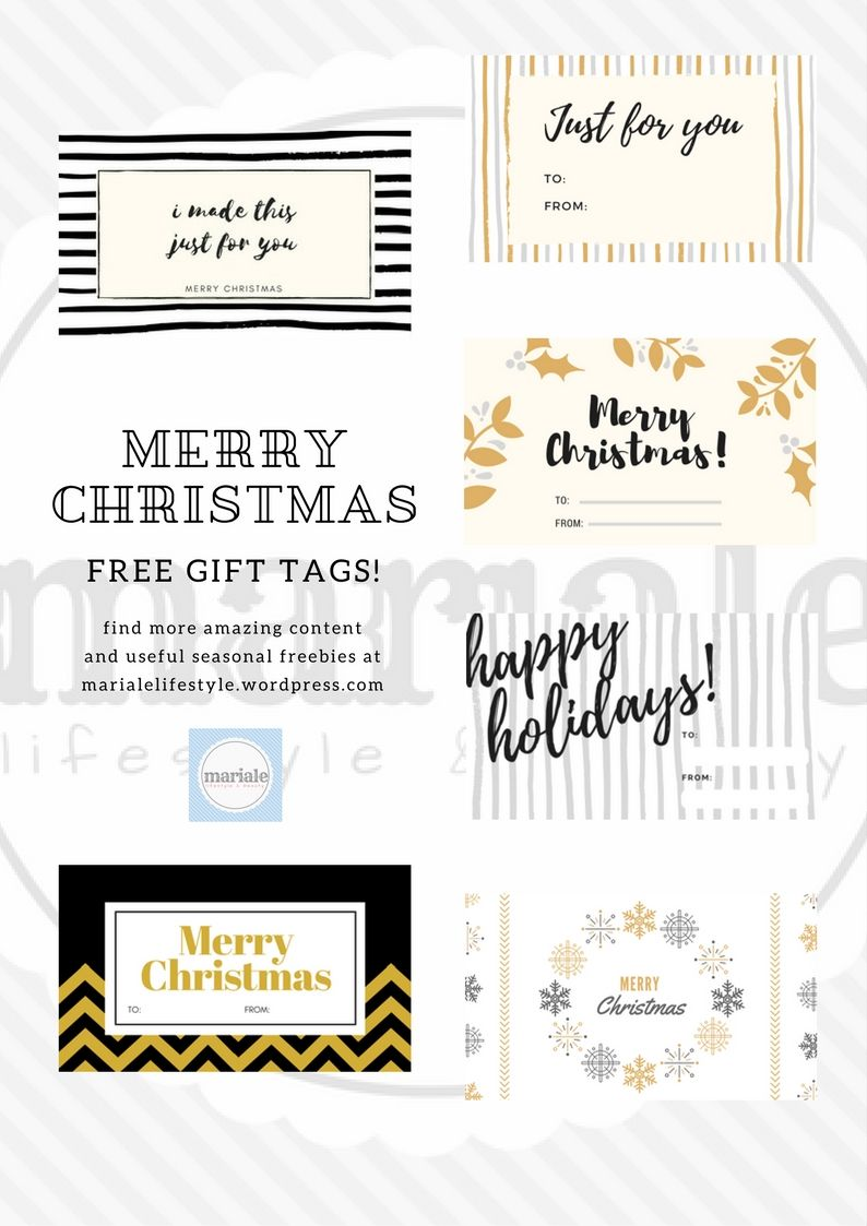 3 Christmas Gift Tag Printables Free Templates Just For You Tips