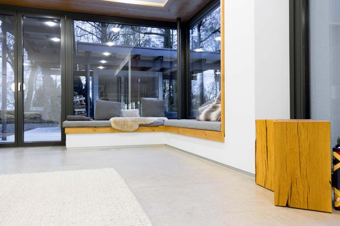Kuche Mineralwerkstoff Eiche Sitzlounge Innenarchitektur Lounge Sitzen