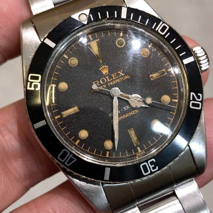 """167 Likes, 1 Comments - Past & Future Times (@pnftimes) on Instagram: """"Rolex Submariner 5508 Gilt Dial With 7206 Bracelet #pnftimes #rare #submariner #vintagesubmariner…"""""""