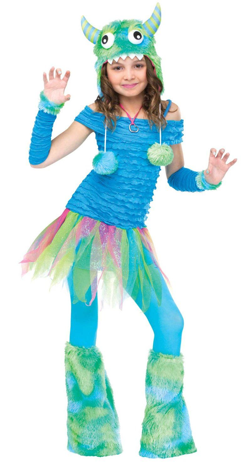blue beastie monster kids costume monster costumes - mr. costumes