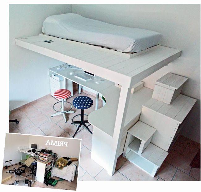Letto A Soppalco Ikea Impressionante Costruire Un Letto A Soppalco