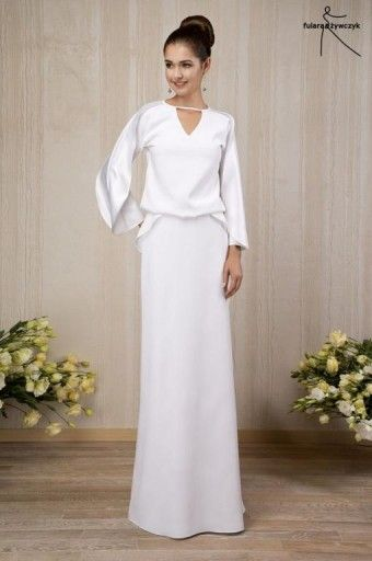 e9ba772a76 Suknia ślubna ecru FULARA ŻYWCZYK R.38 -80%