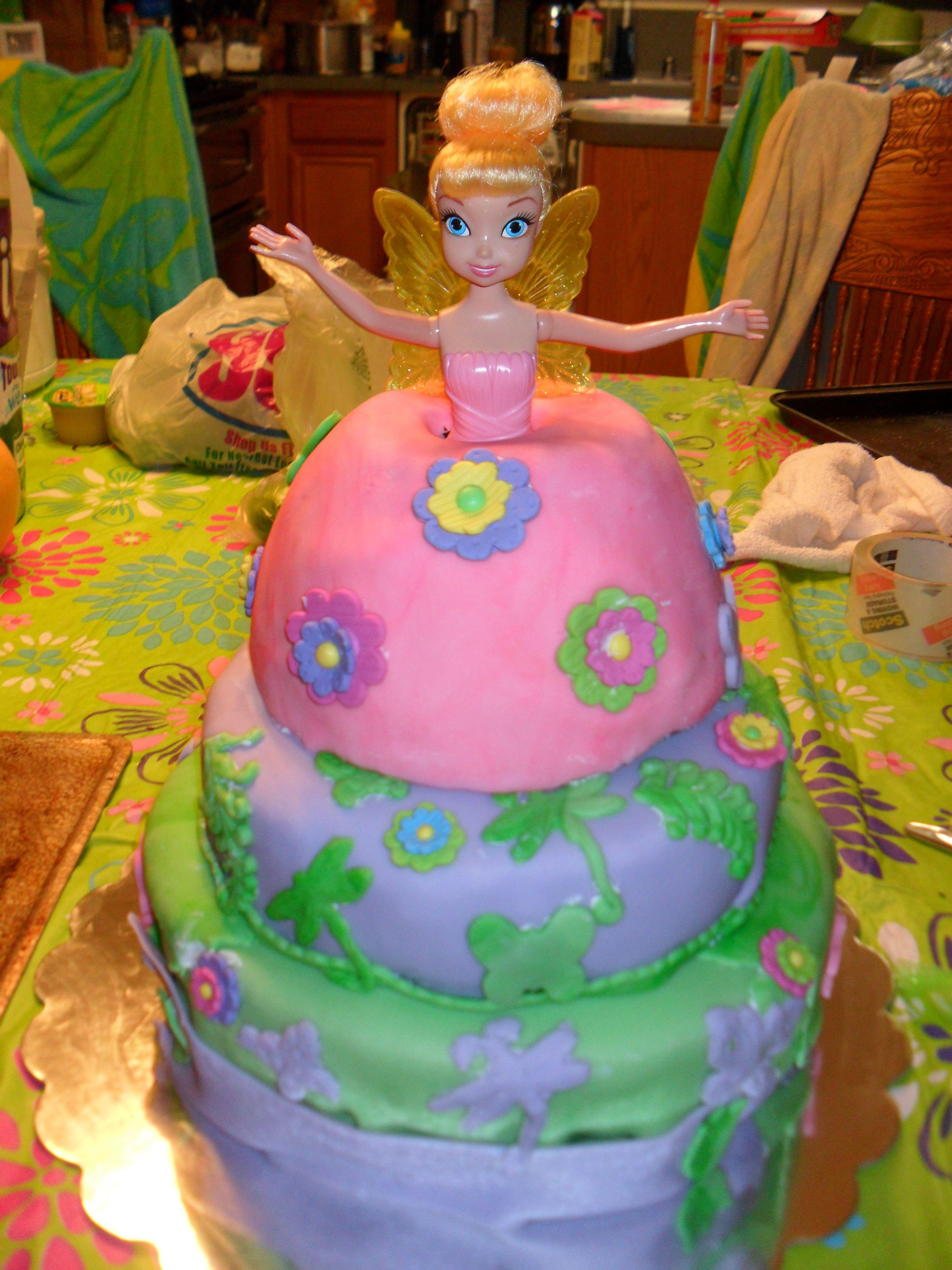 Tinkerbell Ryan Capasso 1st Birthday Cake Birthdays Pinterest
