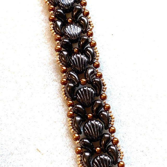 Beading tutorial bracelet Ginko bead pattern Bead tutorial | Etsy