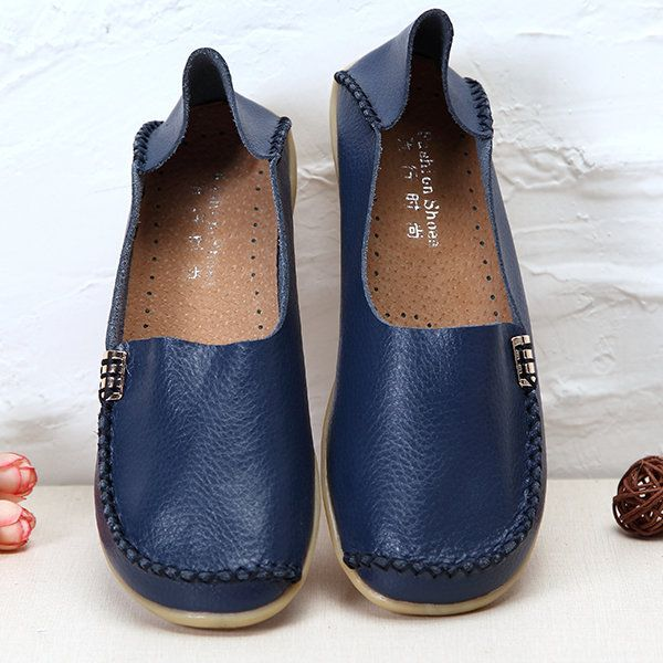 US Size 5-13 Women Flat Shoes Casual Comfortable Outdoor Slip On Loafers - US$22.43