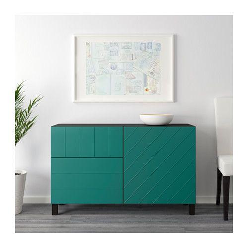 aufbewkomb t ren schubladen best schwarzbraun hallstavik blaugr n ideen f r wohnung ikea. Black Bedroom Furniture Sets. Home Design Ideas