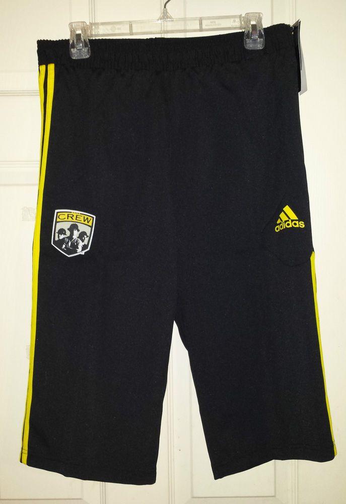 Adidas MLS Columbus Crew Soccer Training Shorts Pants Mens S M ClimaCool NEW 0e099a9e3
