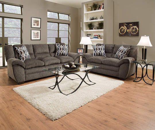Charmant Worthington Pewter Sofa