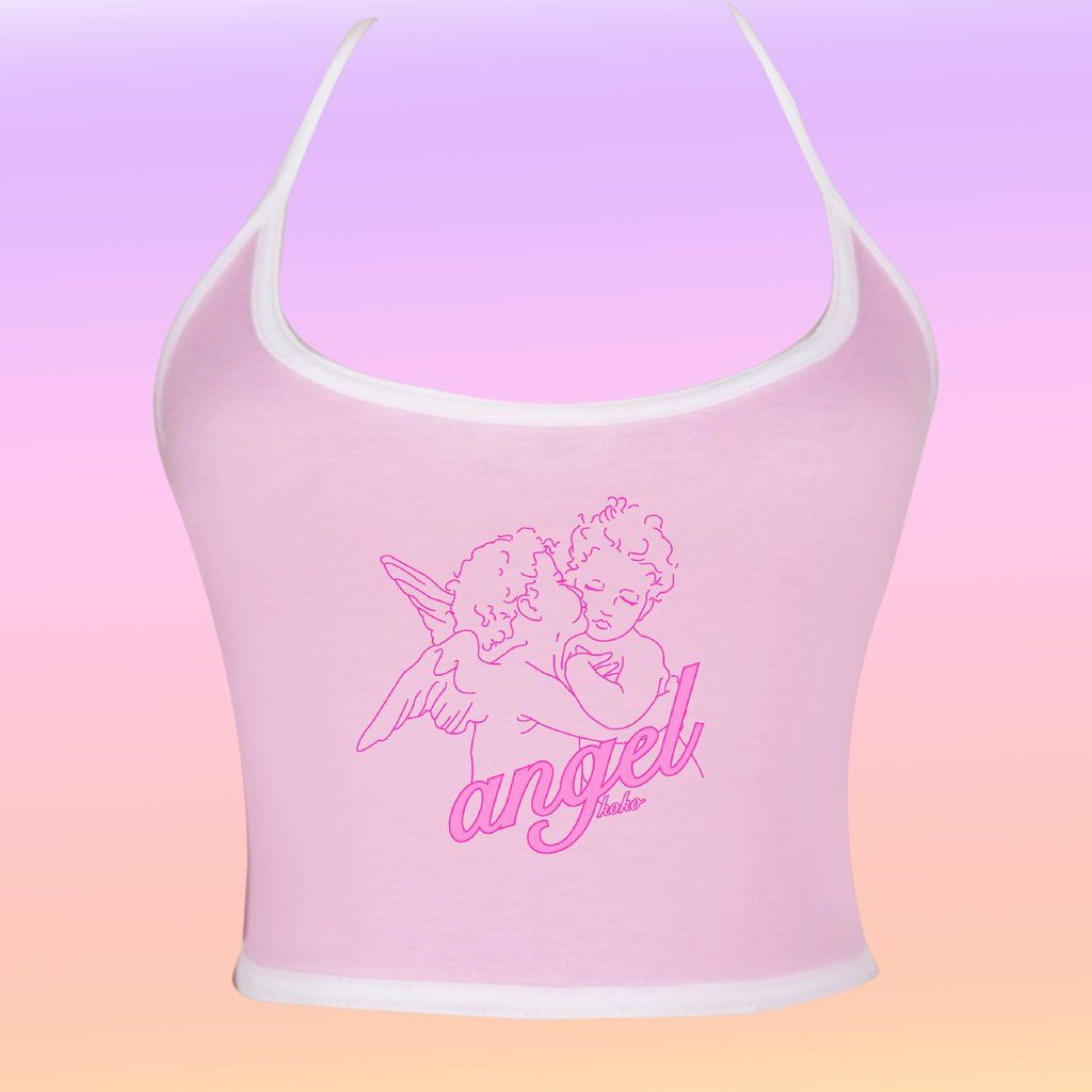 Pink Angel Girls Bejeweled Tank Top