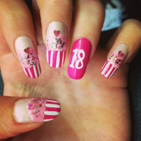 18th birthday nails google search nailed it pinterest 18th birthday nails google search prinsesfo Choice Image