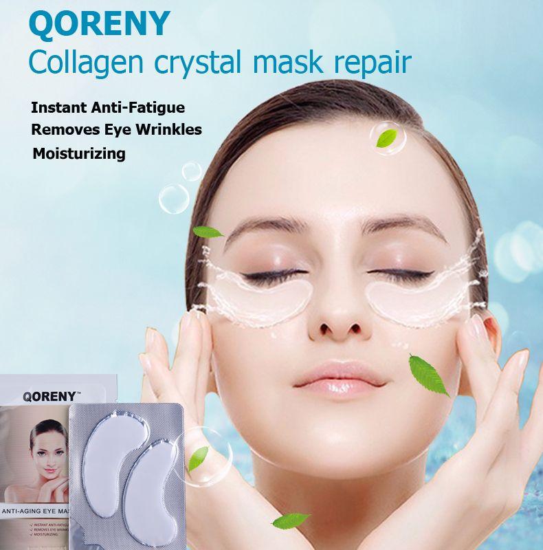 Qoreny trattamento degli occhi maschere lenire refresh occhi con aloe e vitamina e un super-idratante della pelle aumentando collagene 5 paia usa marca
