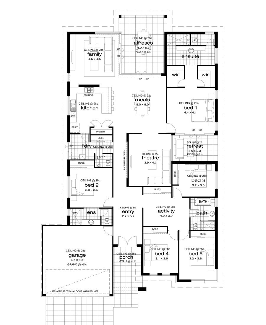 Floor Plan Friday Master Suite At The Rear Home Design Floor Plans Family House Plans Floor Plans