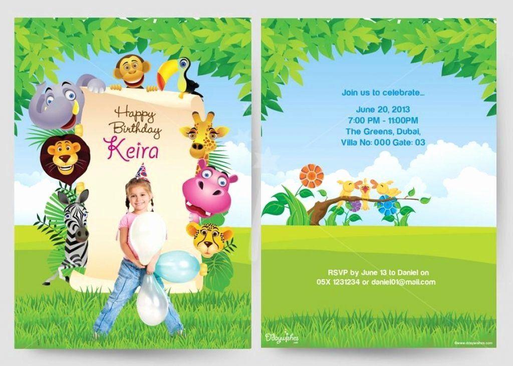 Birthday Party Invitation Card Template Awesome Birthday Party Birt Kids Birthday Party Invitations Birthday Invitations Kids Personalized Birthday Invitations