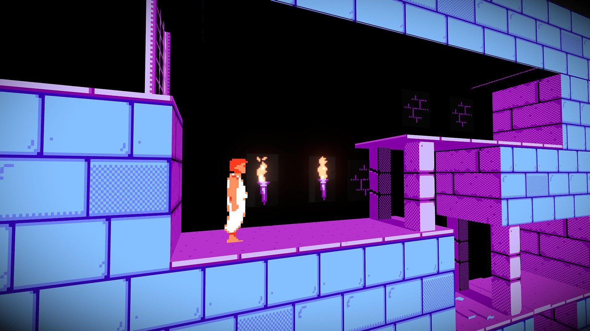 Prince Of Persia Level 1 Nes Fan Art By Funkfz Prince Of Persia Fan Art Persia
