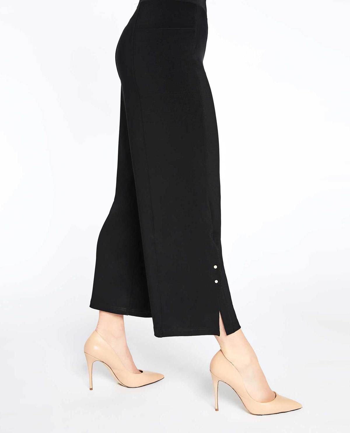 c24b836d62 Black wide leg pants with buttons #sympli #theclothingcove #blackpants  #widelegpants #womensfashion