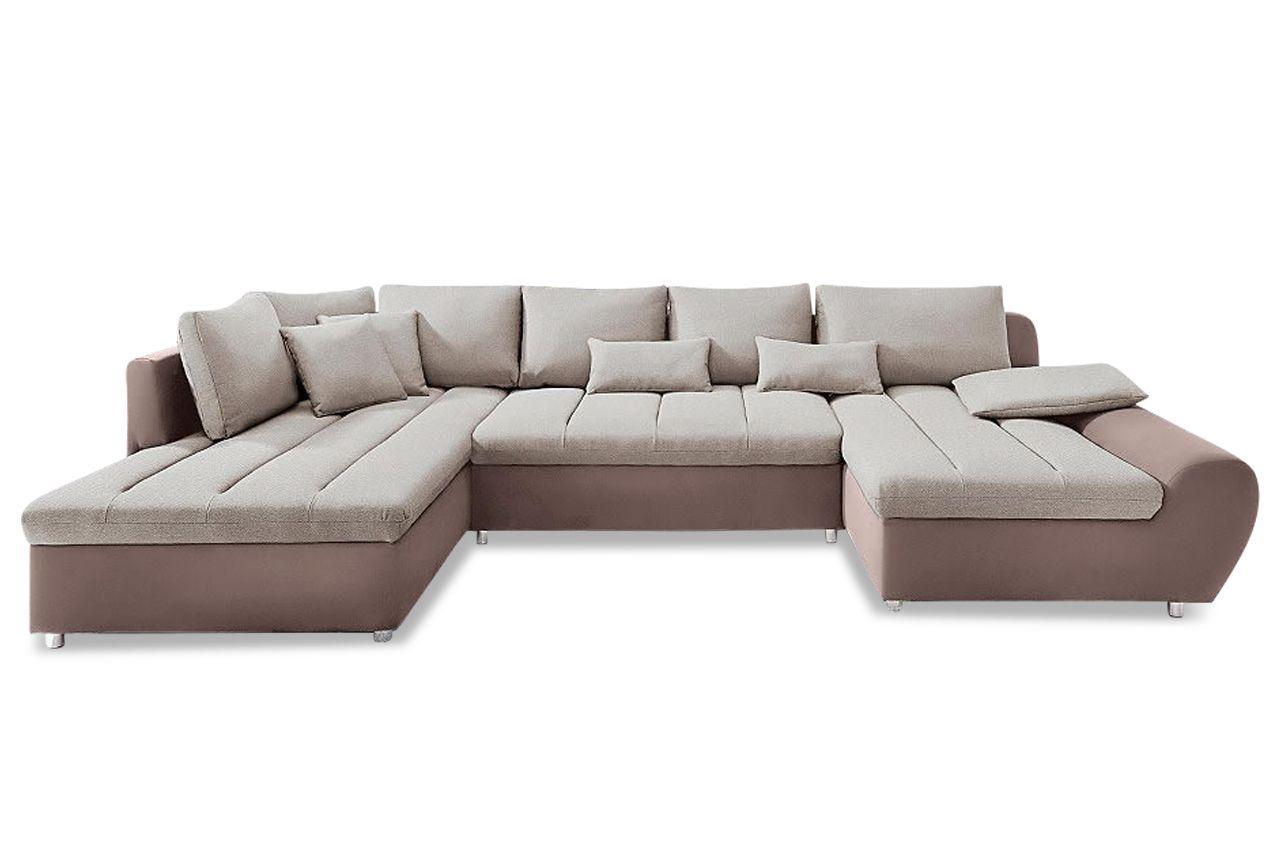 Wohnlandschaft Braun 4150 Modern Couch Couch Sofa