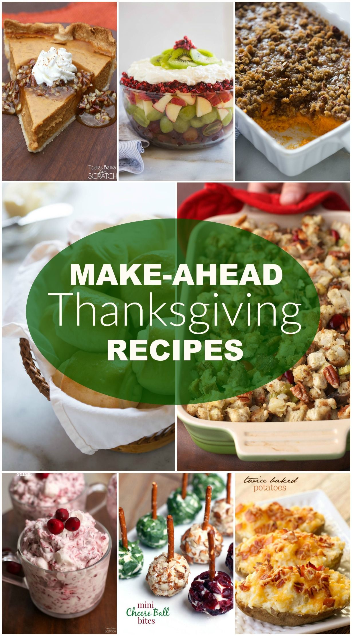 Make Ahead Thanksgiving Side Dishes Thanksgiving sides