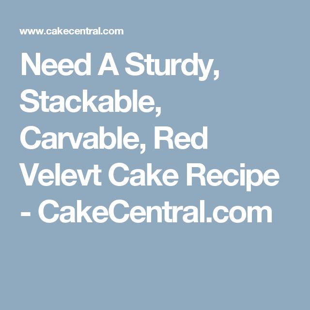 Sturdy cake recipe