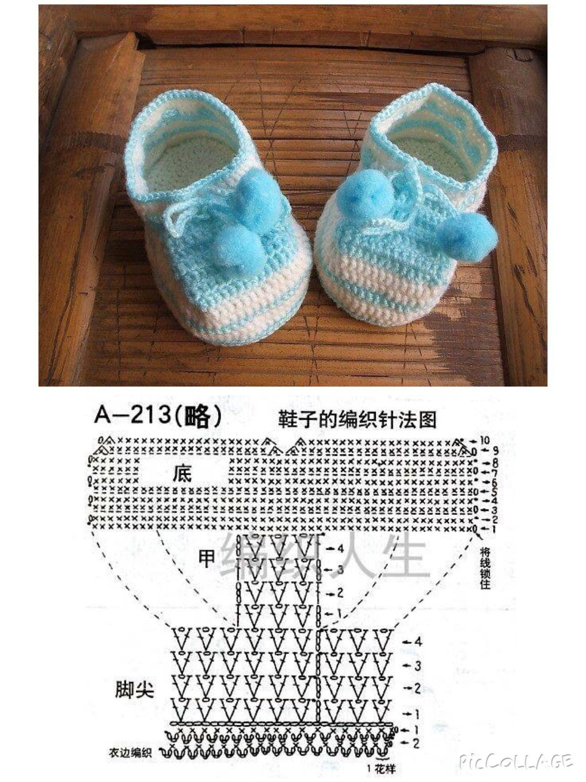 Zapatitos | bebés | Pinterest | Zapatos, Bebé y Zapatitos bebe crochet