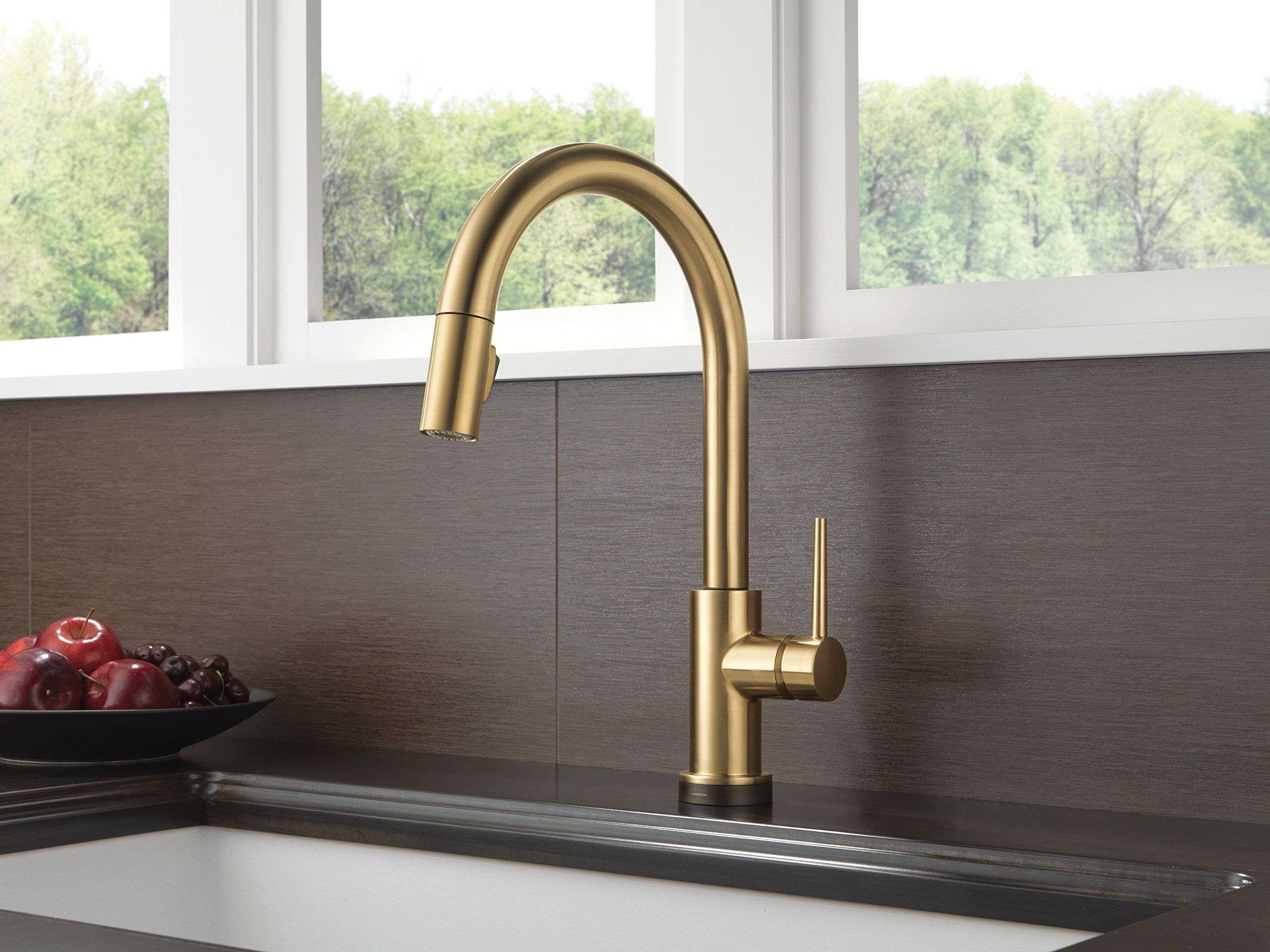 Touch Technology Kitchen Faucet Delta Faucet 9159t Cz Dst Trinsic Single Handle Pull Down Kitchen