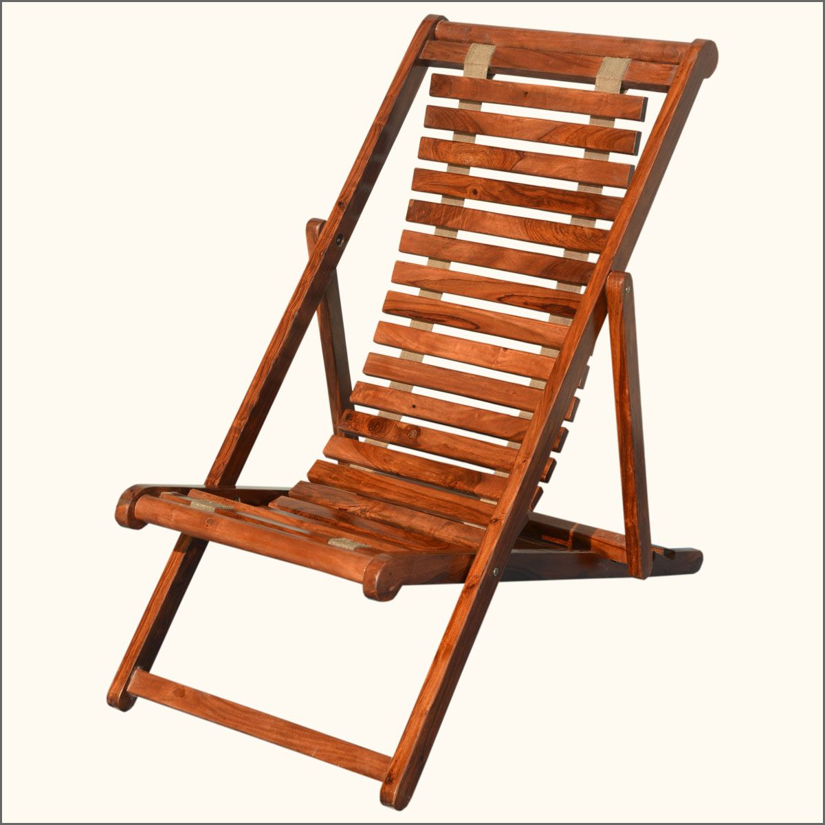 Flexible Seat Solid Indian Rosewood Adjustable Lounge Chair
