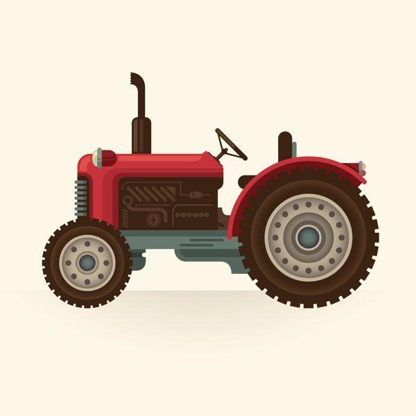 Transportation On Behance Tractor Art Car Illustration Illustration