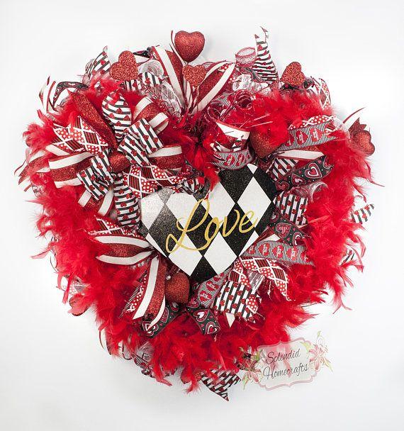 Valentine Wreath, Valentine Day Wreath, Love Wreat