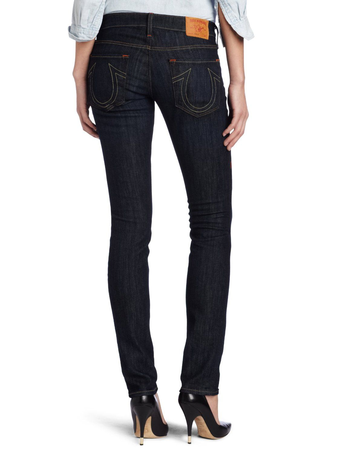 True Religion Women's Stella 32 Inch Inseam Skinny Jean  Price: $100.99