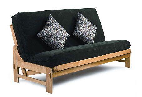 Cypress Medium Oak Futon Frame By Lifestyle Futon Frame Futon Sets Queen Size Futon