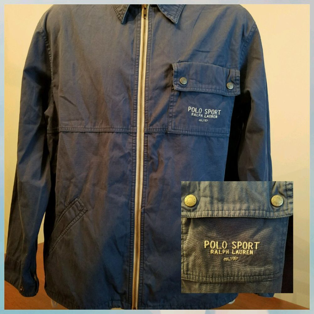 Vintage EUC Polo Ralph Lauren 100 Cotton Navy Blue Full