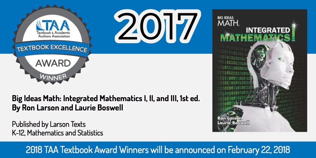 Big Ideas Math: Integrated Mathematics I, II, and III, 1st ed. by