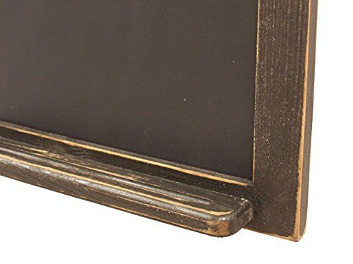 GNR Trades Black Vertical Chalkboard in Country Rustic Distressed Finish
