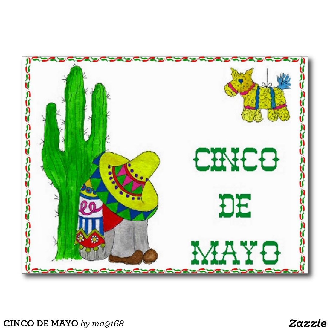 CINCO DE MAYO POSTCARD by ma9168
