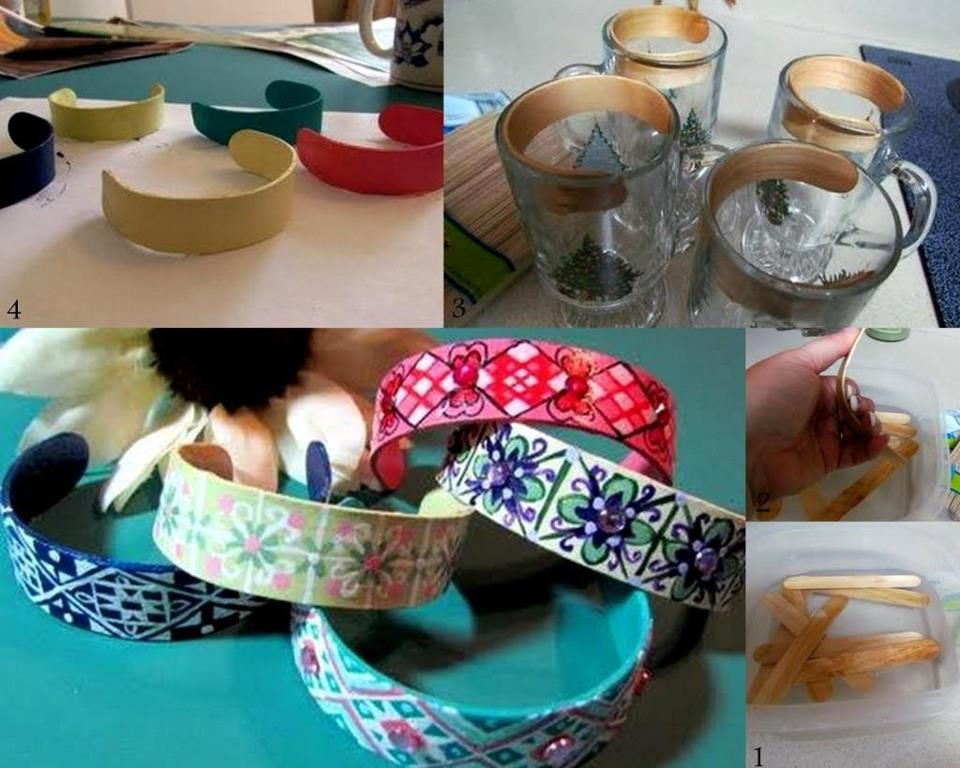 Popsicle Stick Bracelet | Popsicle stick bracelets, Craft and Fun ...