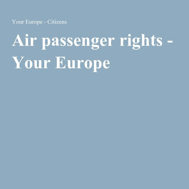 Air passenger rights - Your Europe