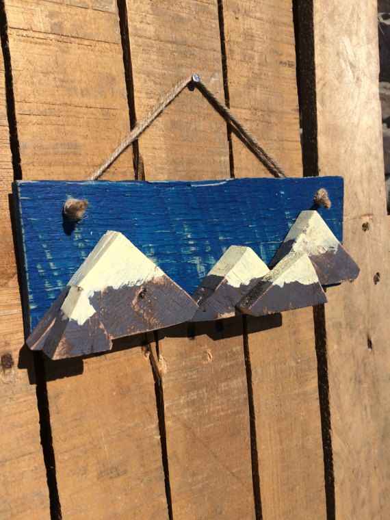 Wood Mountain Sign // Outdoors // Pallet by CactusCreationsAZ