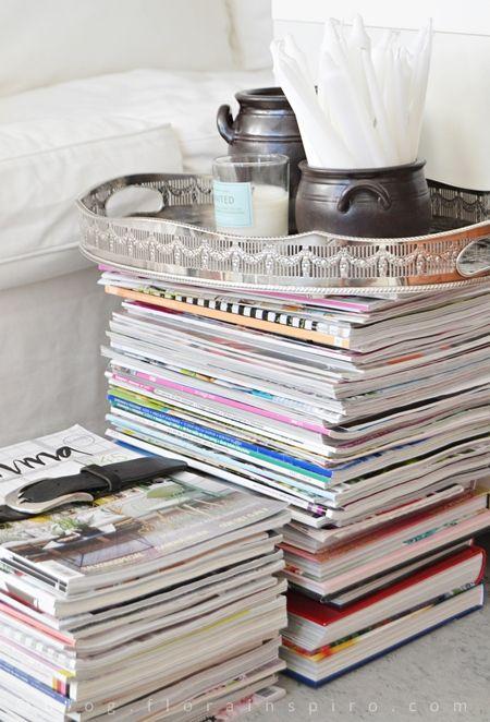 Sideboard made of magazines http://blog.florainspiro.com