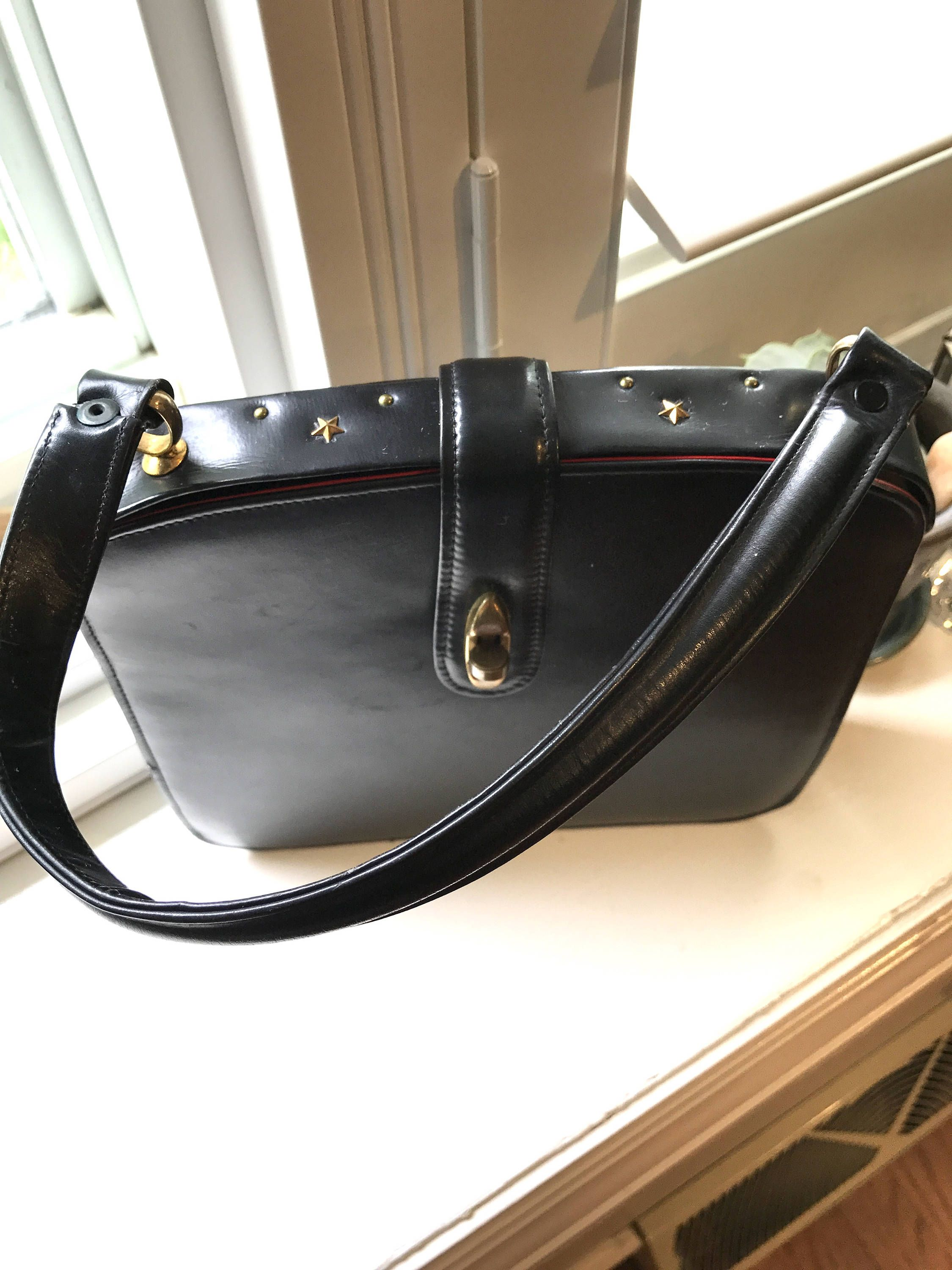 Vintage Unique Dorfan Leather Handbag Made In France By Itsallforhim On Etsy