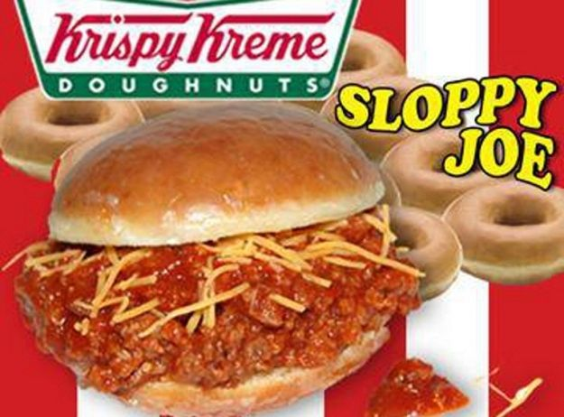 This Is The Krispy Kreme Sloppy Joe It S Being Sold By Chicken Charlie S At The San Diego County Fair Fair Food Recipes Sloppy Joes Sloppy Joes Sandwich