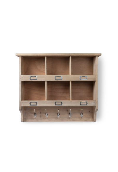 Wooden Box Unit With Hooks Wooden Shelving Units Wall Mounted Shelves Wall Storage Unit