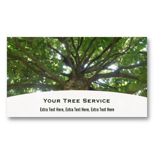 Tree Service Business Card Zazzle