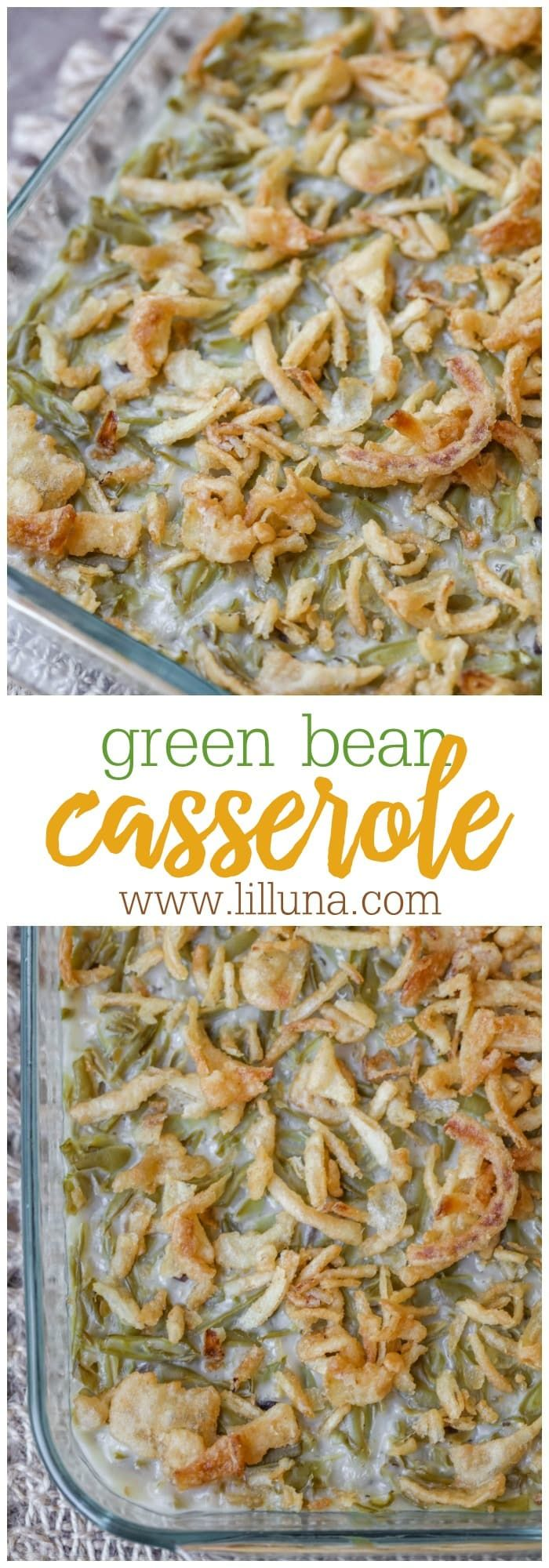 Easy Green Bean Casserole (+VIDEO) | Lil' Luna