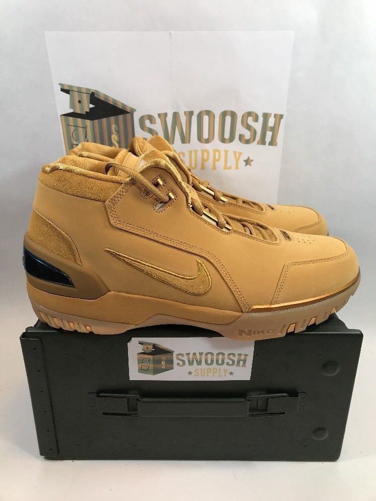 Nike Air Zoom Generation ASG QS Size 15 Wheat Gold AQ0110 700 Lebron Retro  NIB  Nike  AthleticSneakers 2fe87500f